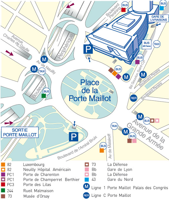Informations g n rales les entretiens de bichat for Porte maillot in paris